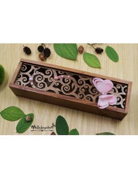 Boîte Papillon Rose Poudré