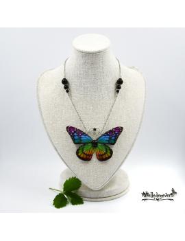 Papillon Monarque Arc-en-ciel