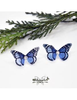 Blue Monarch Butterfly